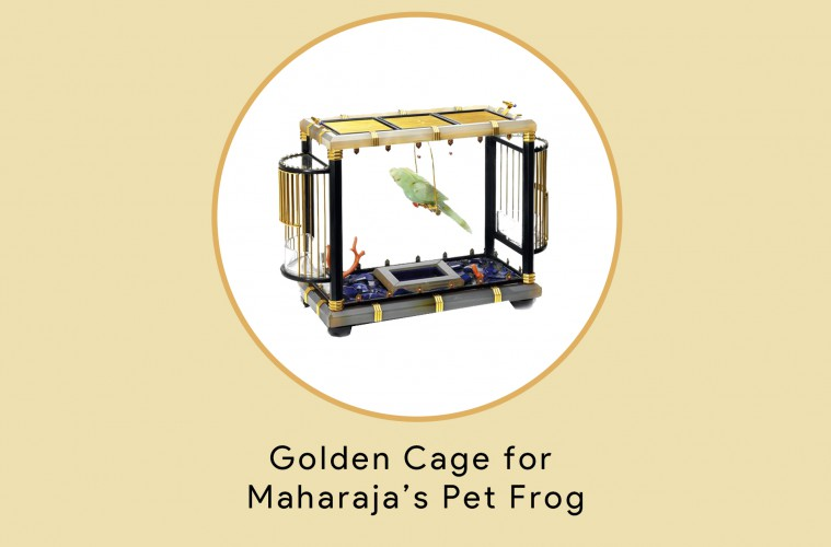 Golden Cage for Maharajas Pet Frog